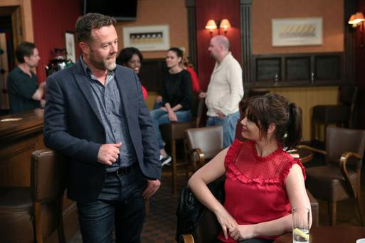 Eric Lalor (L) who plays Cathal in Fair City