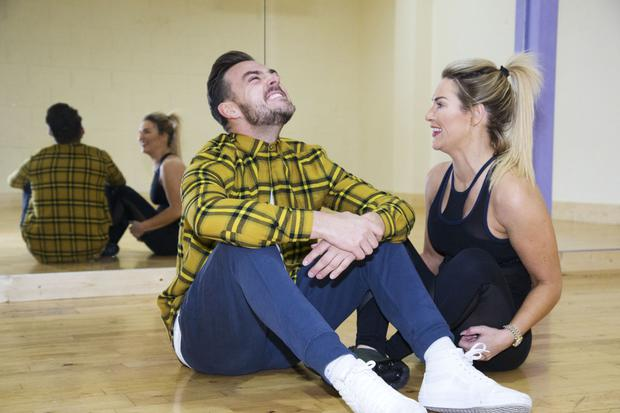 Erin relaxes during rehearsals with her Dancing With The Stars partner Ryan McShane
