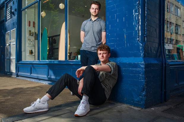 Young Offenders stars Alex Murphy and Chris Walley. Photo: Arthur Carron
