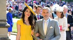 Amal Clooney with her husband George