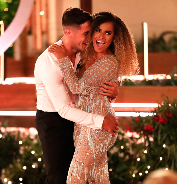 Greg O'Shea and Amber Gill, winners of Love Island