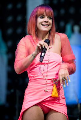 Singer Lily Allen at the Glastonbury festival in 2014, which she says was just before things began to fall apart in her life
