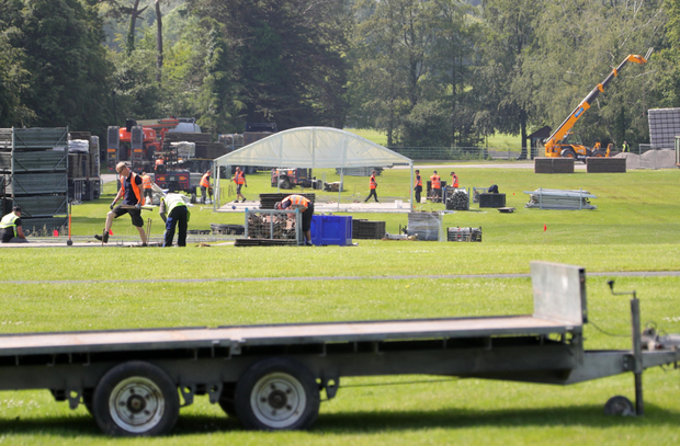 Construction has started on the Longitude site at Marlay Park. Photo: Colin Keegan