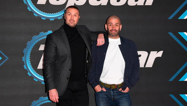 Paddy McGuinness (left) and Chris Harris had been at the Top Gear premiere. Photo: Getty Images