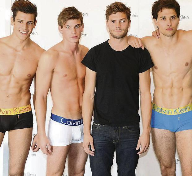 FILM ROLE: Former model Jamie Dornan (third from left)
