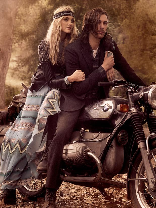 Hozier and model Caroline Trentini in Vogue magazine