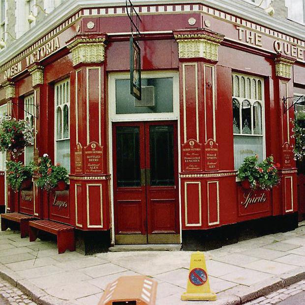 the Queen Victoria pub on the set of the soap Eastenders