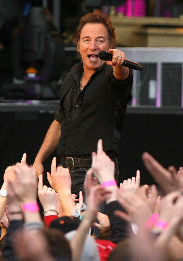 Bruce Springsteen plays the first of three sell out gigs at the RDS in Dublin in 2008.