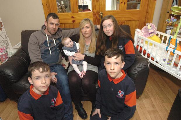 The Nelsons Gary, Lorraine With , Sophie, Jake ,Cody have a Special Christmas for Millie Pic Seamus Farrelly