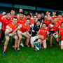Cuala players celebrate their Dublin SHC final victory over Kilmacud Crokes in Parnell Park last Saturday afternoon. Picture: Caroline Quinn