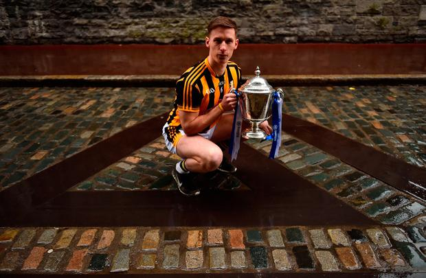 FINAL FEVER: Kilkenny's Cillian Buckley at yesterday's Allianz HL Division 1 final promotion