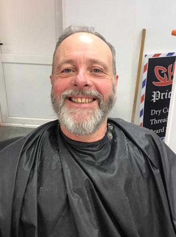 Stephen Maloney With his Beard after the Big Shave