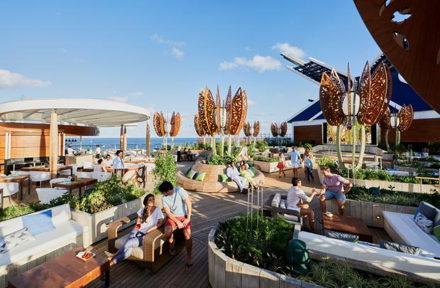 The deck areas will be as stylish as sister ship Celebrity Edge