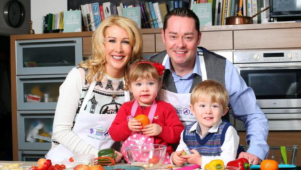 Neven Maguire with his wife Amelda and their twins