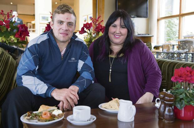 Focused: Ian Madigan with Andrea Smith