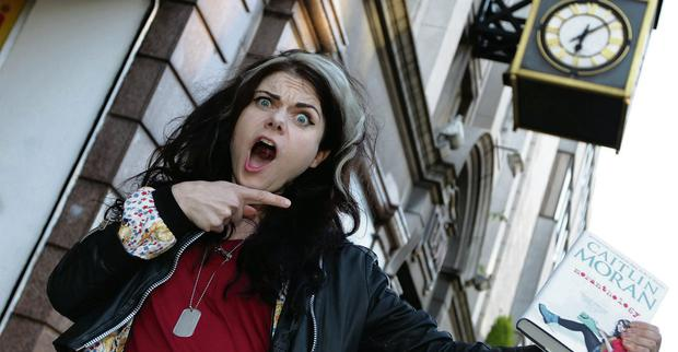 Star guest: Author and journalist Caitlin Moran was on Moncrieff and The Ray D'Arcy Show