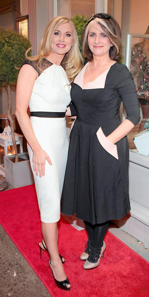 Lisa Duffy (left) with Cathy O'Connor at the launch of Cari's Closet in Malahide, Co Dublin. Photo: Brian McEvoy