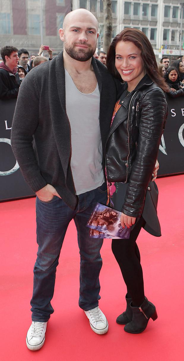 Cathal Pendred with girlfriend Michele McGrath