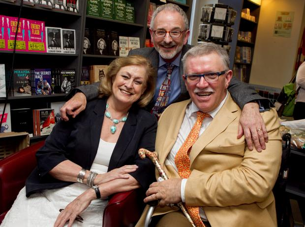 Michael with his husband Terry O'Sullivan and friend Emer O'Kelly