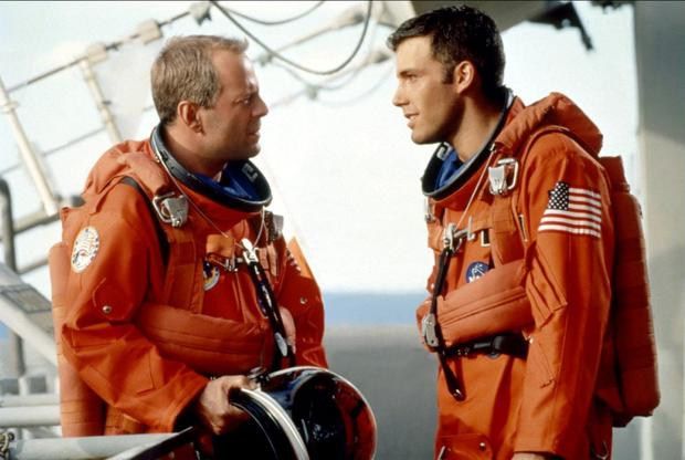 Bruce Willis and Ben Affleck in Armageddon