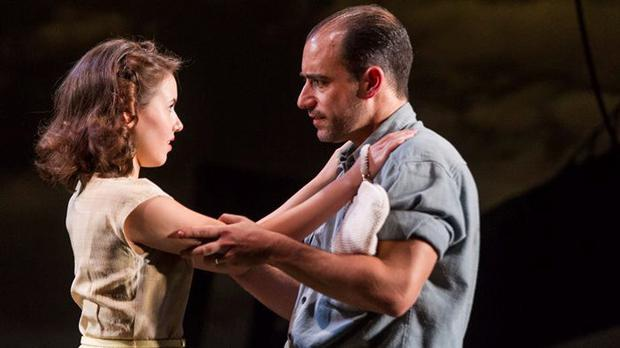 Lauren Coe and Scott Aiello in A View from the Bridge. ©The Gate Theatre