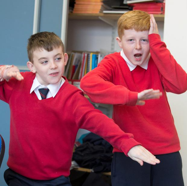 Rutland Street National School pupils, Nathan Kavanagh (10) and Calum Cunningham (9).