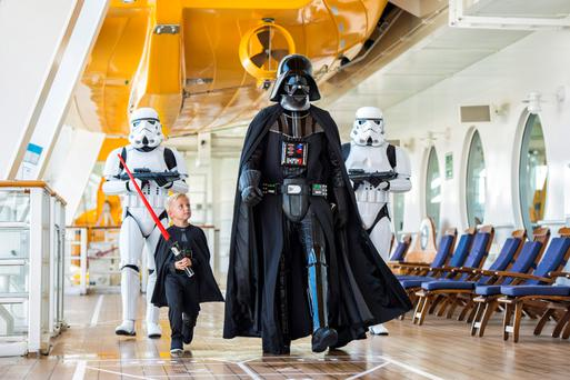In 2016, Disney Cruise Line guests can experience the legendary adventures and iconic characters from the Star Wars saga for the first time aboard a Disney Cruise Line ship in a brand-new, day-long celebration during eight special sailings: