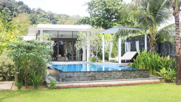 Mark's private villa and pool at The Danna Hotel in Langkawi