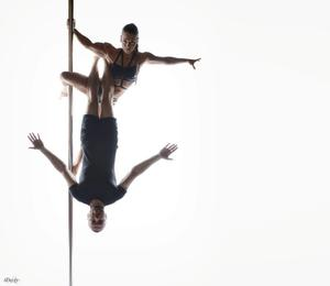 Pole fitness athletes: Terri Walsh and Michael Donohoe