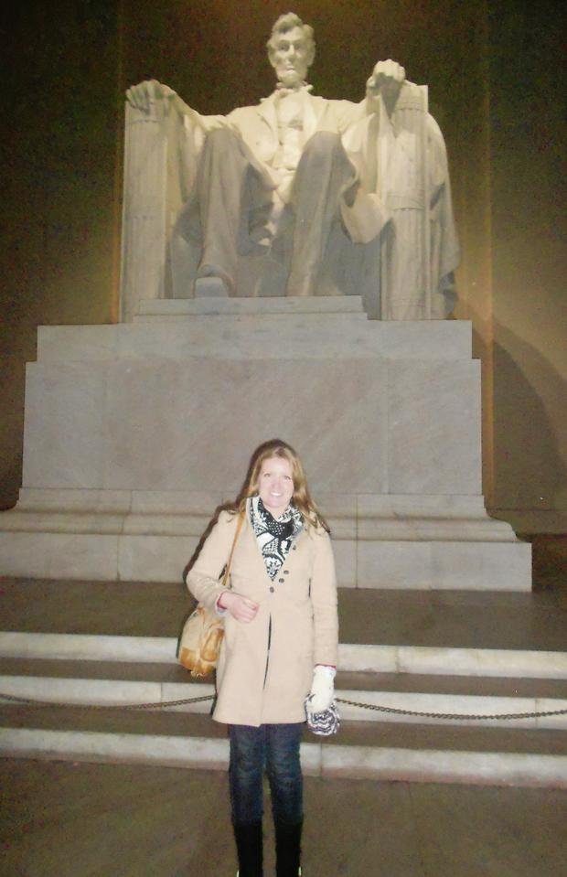Lisa in the heart of DC.