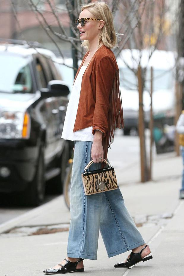 Kate Bosworth wears cropped jeans