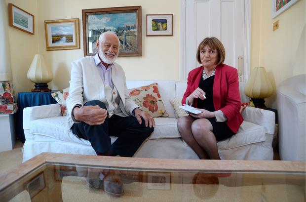 Professor Ivor Browne with Kate Shanahan