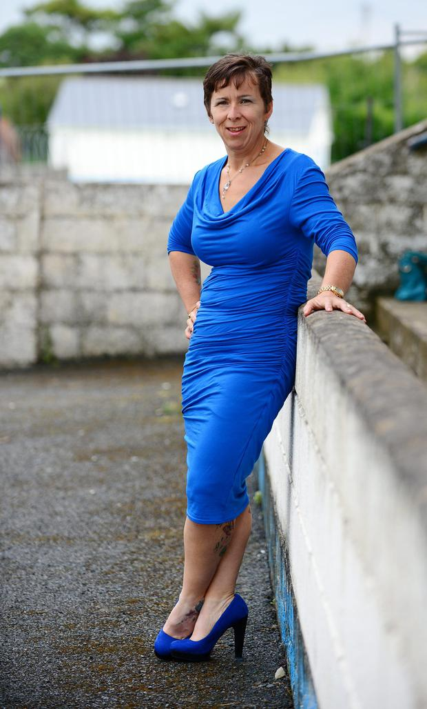 Kim Callaghan from Ardee lost weight after she couldn't keep up wih her children. Kim is pictured 10 and a half stone lighter and looking like a different person.