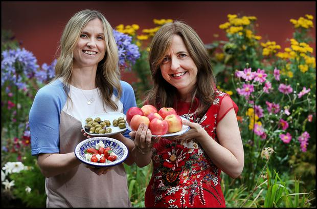 Nutritionist Shirley Roe and mindfulness teacher Orla Burchael at The Sanctury
