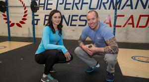 Joanna Kiernan and Niall Munnelly at Performance and Fitness Academy, Naas, Co Kildare.Photo: Mark Condren