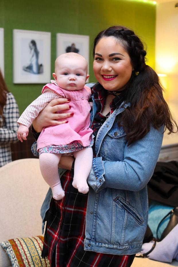 Grace Mongey (FacesbyGrace) with her daughter Sienna