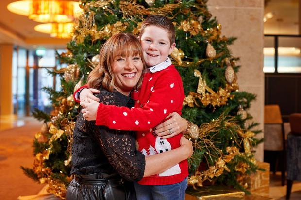 Lorraine Reynolds from Athlone with her son Seán, who went to Lapland to meet Santa Claus courtesy of the Make-A-Wish Foundation