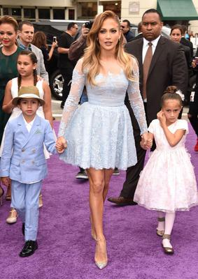Jennifer Lopez with twins, Max and Emme