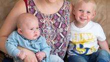 Simone Kenny and her children Quinn (5 months) and Etienne (2 months) at their Cabra home
