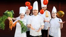Picturedis (left to right) Ruth Lappin (22), Chef de Partie at Restaurant Patrick Guilband, Robert Browne(21), currently a medical student in National University of Ireland, Galway, John Fitzmaurice,(26), Head Chef at Moloughney's, Clontarf, Conor Halpenny(20), Chef de Partie, Tankardstown House and  Roseanne Meehan -(24), Junior Sous Chef, Knockranny House Hotel on Ireland's iconic Moore Street are the five finalists of Euro-Toques Young Chef of the Year 2015.