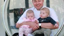 Neven Maguire with his twins, Lucia and Conor.