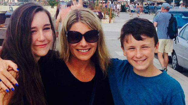 Carol with her daughter Sophie and son Oscar (11)