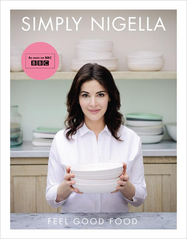 One of Nigella Lawson's bestsellers, 'Simply Nigella'.