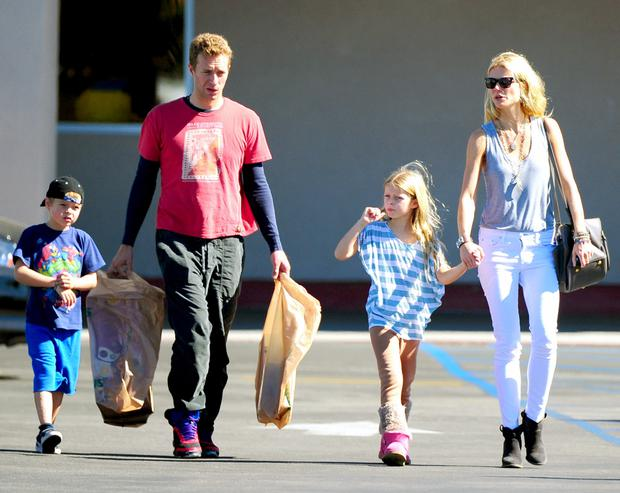 Gwyneth Paltrow, Chris Martin and kids