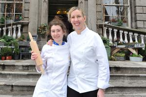 Ruth Lappin, Chef de Partie at Restaurant Patrick Guilbaud and (right) Michelin star holder Chef Clare Smyth of Restaurant Gordon Ramsay.
