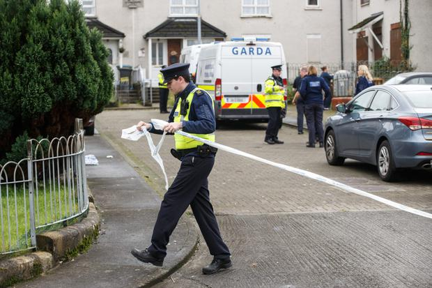 Gardai seal off the scene