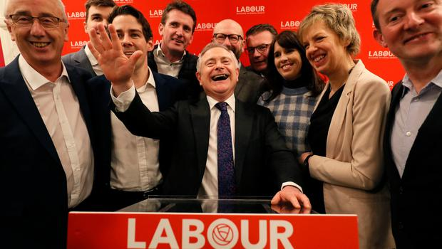 All smiles for now as party colleagues say farewell to Brendan Howlin