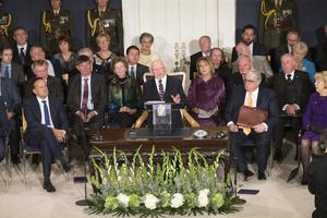 President Michael D Higgins was inaugurated for a second term last November 11
