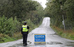 Cordon close to where Mr Lunney is thought to have been attacked near Ballinagh, Co Cavan