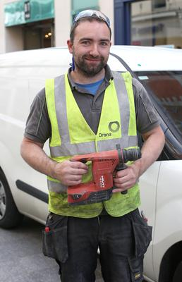 Jerome O'Brien was among workers in the city centre less than impressed with the speed limit plans